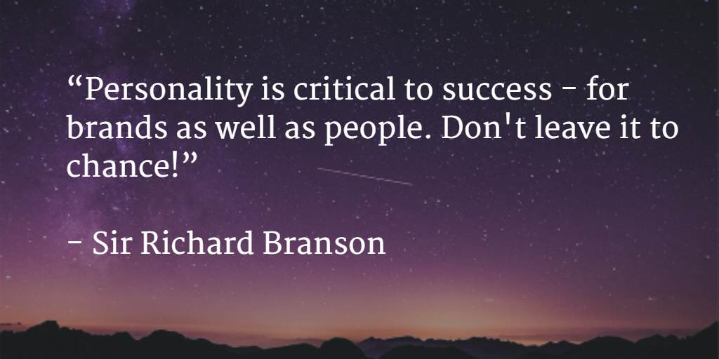 brand personality quote