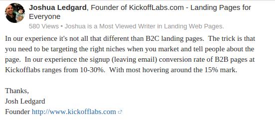 kickofflab landing page conversion