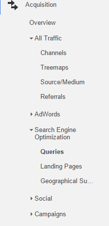 Search Queries Google Analytics