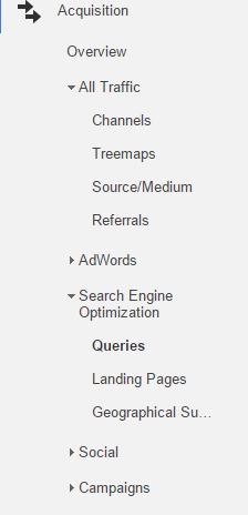 Search Queries Google Analytics