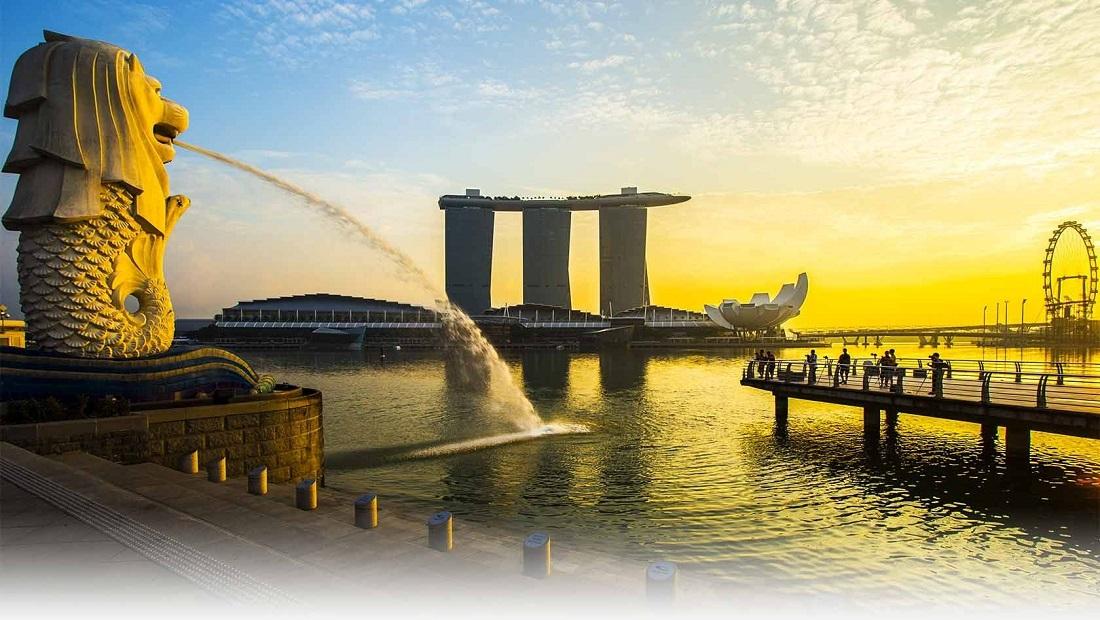 Singapore Merlion Landmark