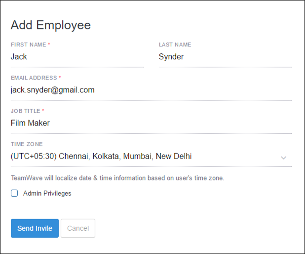 Add Employee with Free id
