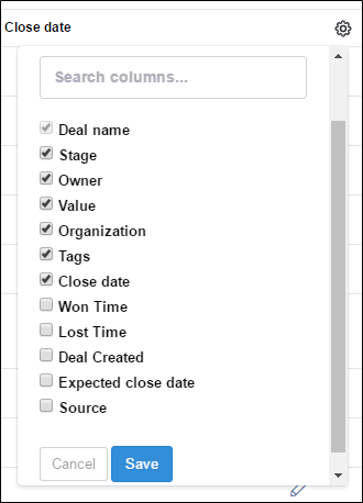 list view customization