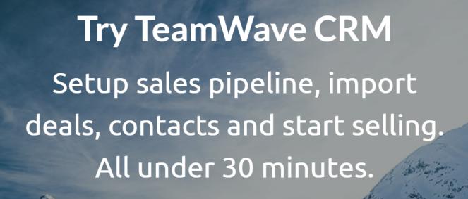 TeamWave CRM Blog Banner