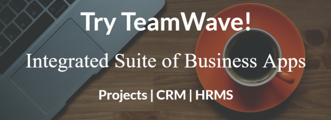 Try TeamWave Projects CRM HRMS
