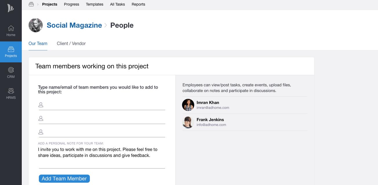 Client or Vendor Collaboration in TeamWave